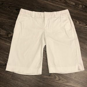 Banana Republic | White Bermuda Shorts